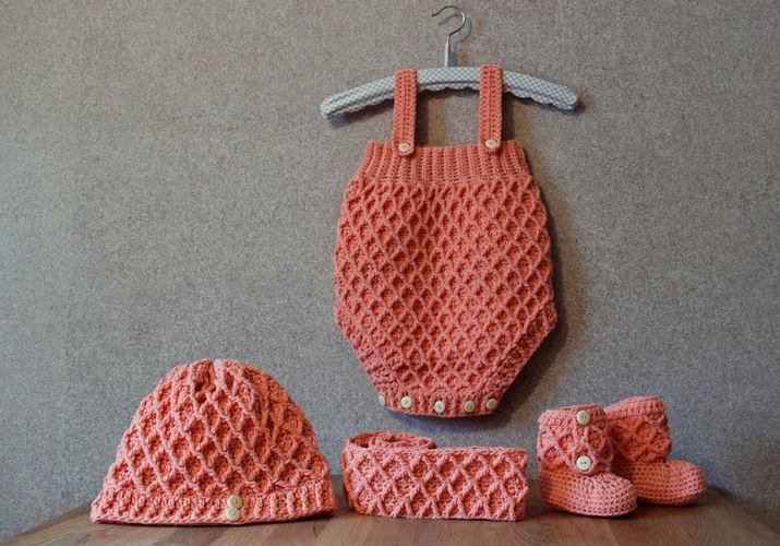 Makerist - Babyset mit Diamantmuster - Häkelprojekte - 1