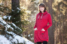Makerist - Rotes Sweatkleid  - 1