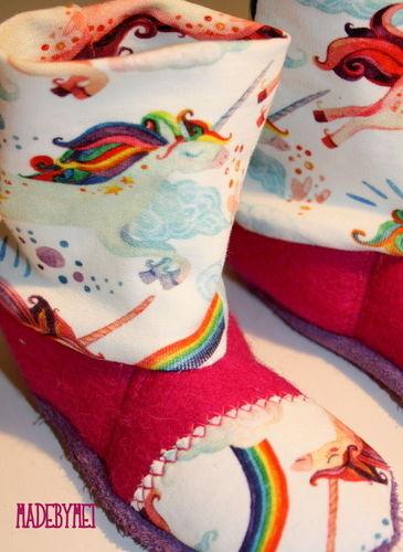 Makerist - Neue Hausschühchen für die Minizuckerzicke - Nähprojekte - 3