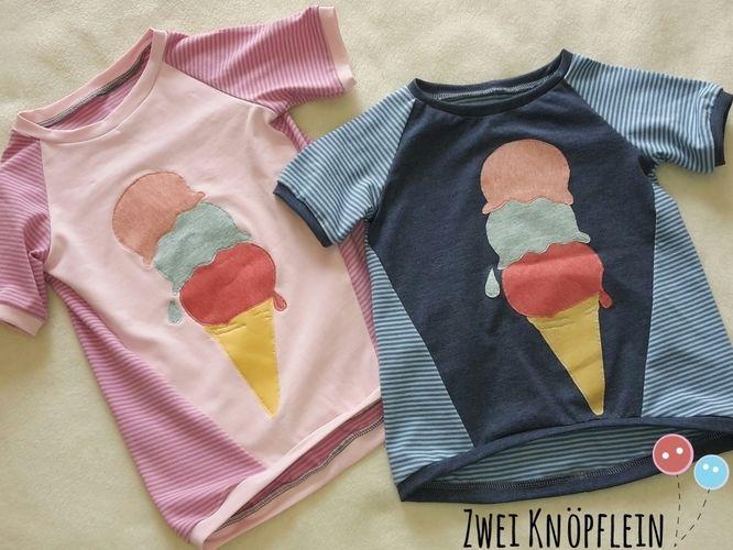 Makerist - Tee shirt mit ice cream - Nähprojekte - 1