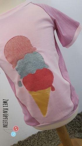 Makerist - Tee shirt mit ice cream - Nähprojekte - 2
