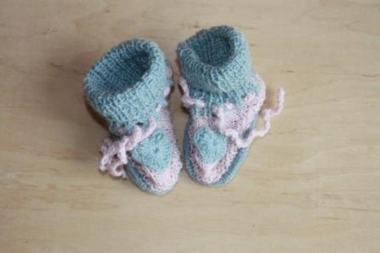 Makerist - Babyschuhe für mein Enkelkind - Strickprojekte - 1
