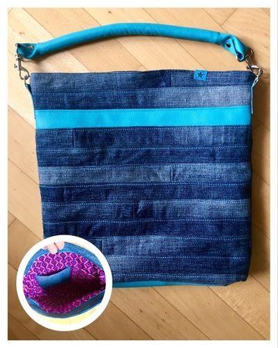 """Makerist - Jeans Upcycling Tasche """"Chobe"""" von Elle Plus - Nähprojekte - 1"""