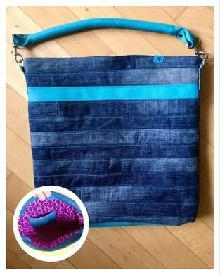 """Makerist - Jeans Upcycling Tasche """"Chobe"""" von Elle Plus - 1"""