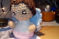 Makerist - kleiner Engel/aus Wolle gehäkelt/ als Schutzengel für meine Tochter - 1
