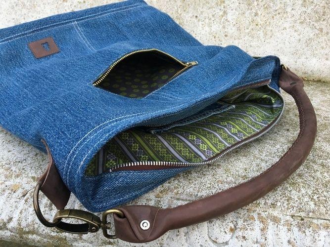 Makerist - Chobe Bag - Meine alte Jeans und neues Leder für meine neue Lieblingstasche! - Nähprojekte - 2