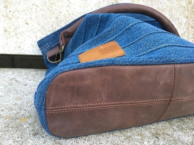 Makerist - Chobe Bag - Meine alte Jeans und neues Leder für meine neue Lieblingstasche! - Nähprojekte - 3