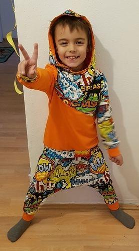 Makerist - Schnittmuster Issy. Für meinen Sohn aus Jersey ein Hip Hop Outfit genäht. - Nähprojekte - 2