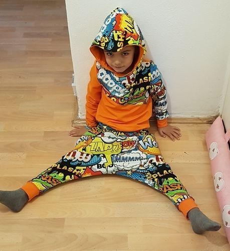 Makerist - Schnittmuster Issy. Für meinen Sohn aus Jersey ein Hip Hop Outfit genäht. - Nähprojekte - 3