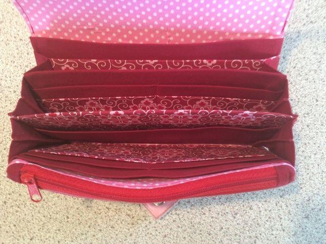 Makerist - Geldbörse Ruby. Sie besteht aus echtem Leder und Baumwolle im Oberstoff und ist für mich gedacht. - Nähprojekte - 3