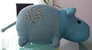 Makerist - Nashorn Kuschletier zu Nilpferd umgewandelt ;) - 1