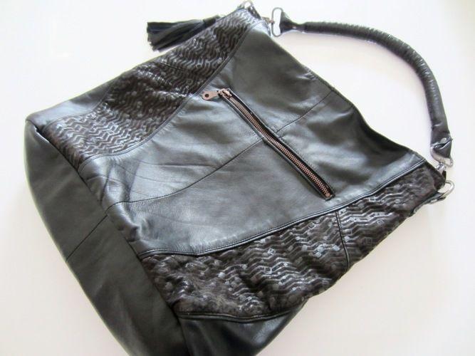 Makerist - Erinnerungs-Tasche aus einem Ledermantel meiner verstorbenen Mutter - Nähprojekte - 3