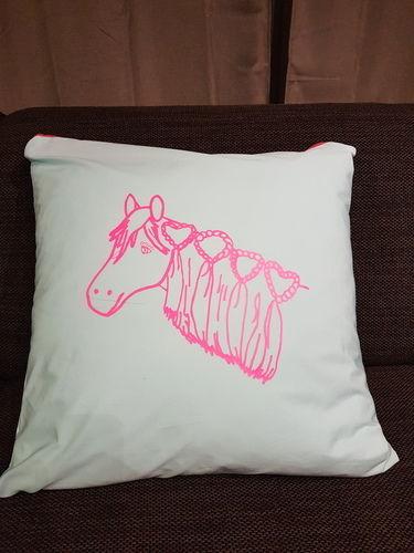 Makerist - Kissenhülle mit Plottetdatei von meiner Tochter gemahlt - Textilgestaltung - 1
