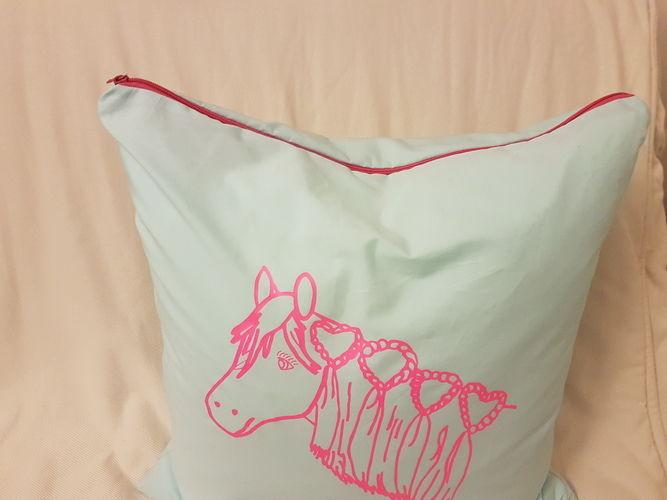 Makerist - Kissenhülle mit Plottetdatei von meiner Tochter gemahlt - Textilgestaltung - 2