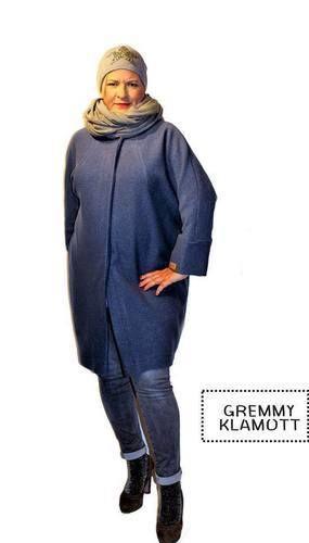 Makerist - Meine Frau AVA, aus Walkstoff, in einem trendigen Jeansblau, für trendige Frauen - Nähprojekte - 2
