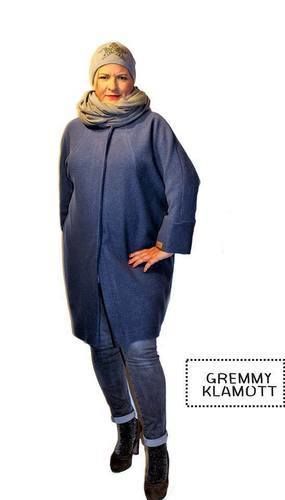 Makerist - Meine Frau AVA, aus Walkstoff, in einem trendigen Jeansblau, für trendige Frauen - Nähprojekte - 3