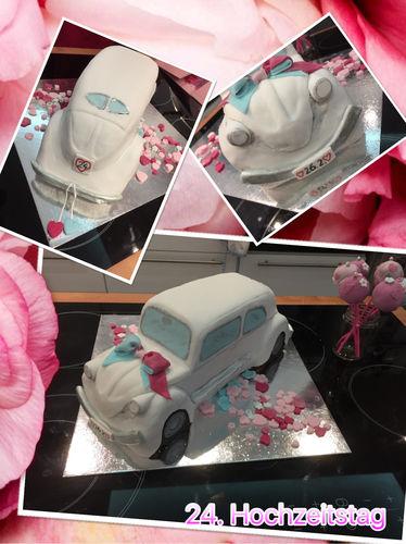 Makerist - VW Käfer-Buttercremetorte zum Hochzeitstag - Torten, Cake Pops und Cupcakes - 1