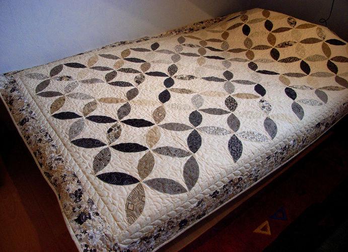 Makerist -  Orange-Peel-Quilt als Bett-/Tagesdecke - Patchwork-Projekte - 1