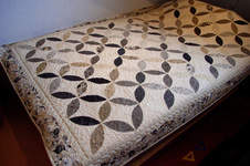 Makerist -  Orange-Peel-Quilt als Bett-/Tagesdecke - 1