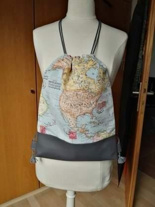 Makerist - Turnbeutel.......einaml um die ganze Welt - 1