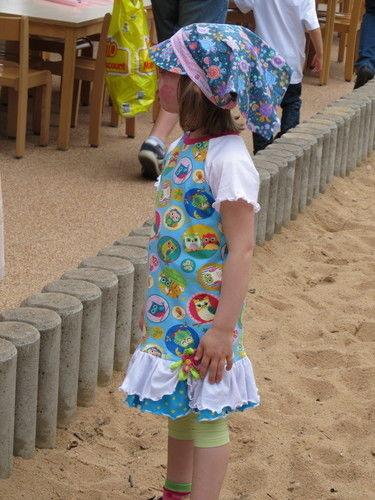 """Makerist - Eulenjerseykleid und Kopftuchmütze """"Karina"""" aus Baumwolle, für meine Tochter - Nähprojekte - 1"""
