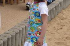 """Makerist - Eulenjerseykleid und Kopftuchmütze """"Karina"""" aus Baumwolle, für meine Tochter - 1"""