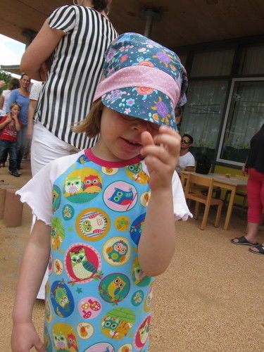 """Makerist - Eulenjerseykleid und Kopftuchmütze """"Karina"""" aus Baumwolle, für meine Tochter - Nähprojekte - 2"""