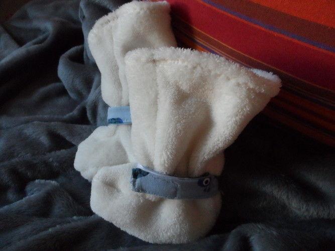 Makerist - Babystiefel  für meinen kleinen Enkel  in versch. Fell, Nicky, Jerse, Fleece  - Nähprojekte - 1
