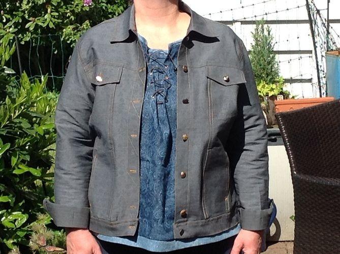 Makerist - Jeansjacke, Jeansstoff, für mich - Nähprojekte - 1