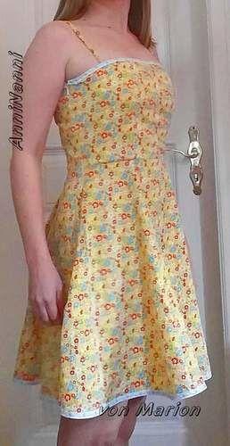 Makerist - AnniNanni-Kleid mit Spaghettiträgern aus Baumwoll-Gewebe - Nähprojekte - 1