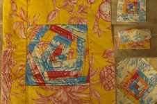 Makerist - Kissenhülle nach crazy patchwork Videokurs log cabin und crazy Blöcke - 1