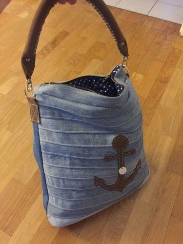 Makerist - Jeans upcycling Tasche mit Ankern ⚓️ - Nähprojekte - 2