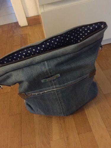 Makerist - Jeans upcycling Tasche mit Ankern ⚓️ - Nähprojekte - 3