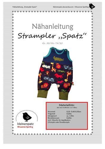 Makerist - Strampler Spatz - Nähprojekte - 2
