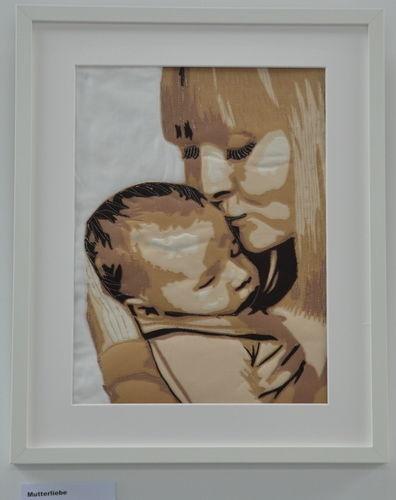 Makerist - Mutterliebe - Porträt als Wandbild - Patchwork-Projekte - 1