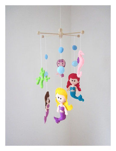 Makerist - Filz Mobile Ariel.Schöne Deko für das Kinderzimmer. - Filzprojekte - 1