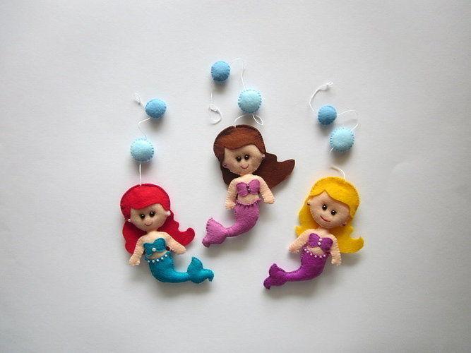 Makerist - Filz Mobile Ariel.Schöne Deko für das Kinderzimmer. - Filzprojekte - 3
