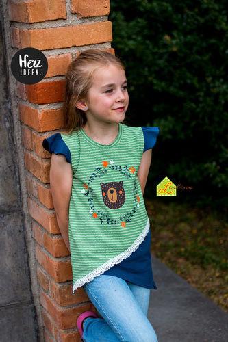 Makerist - Krumm & Schief Shirt aus Jersey für kleine Mädels - Nähprojekte - 1
