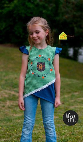 Makerist - Krumm & Schief Shirt aus Jersey für kleine Mädels - Nähprojekte - 3