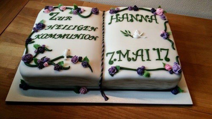 Makerist - Kommunionstorte in Grün und Violett - Torten, Cake Pops und Cupcakes - 3