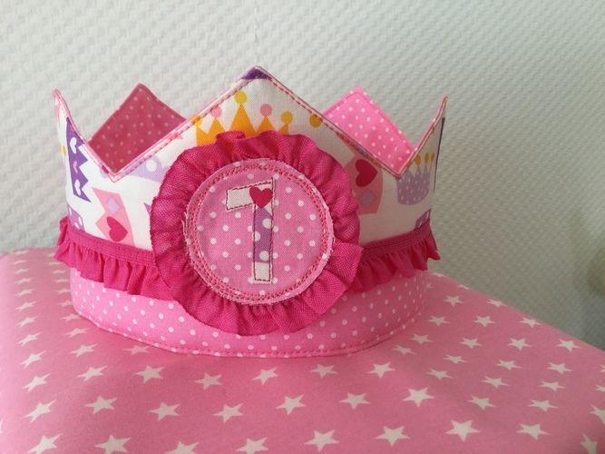 Makerist - Geburtstagskrone für meine Prinzessin - Nähprojekte - 1