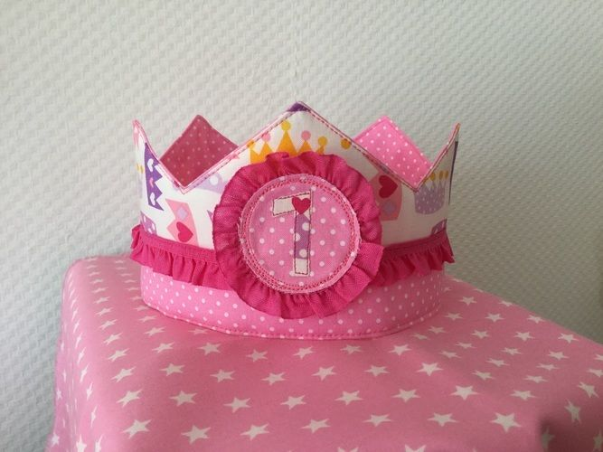 Makerist - Geburtstagskrone für meine Prinzessin - Nähprojekte - 2
