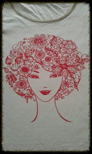 Makerist - Blumenkopf -  Plotterdatei von Münchner Liebe - Textilgestaltung - 1