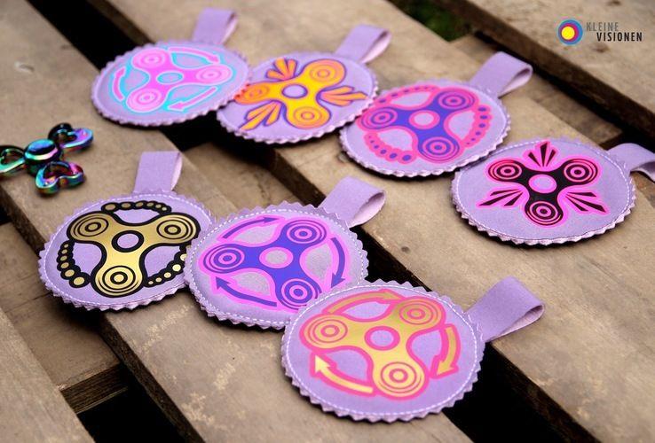 Makerist - You spin my head.... Fidget Spinner Taschen aus Softshell und Kunstleder, mit Plottmotiv für meine Kinder und alle Spinner ;-) - Nähprojekte - 3