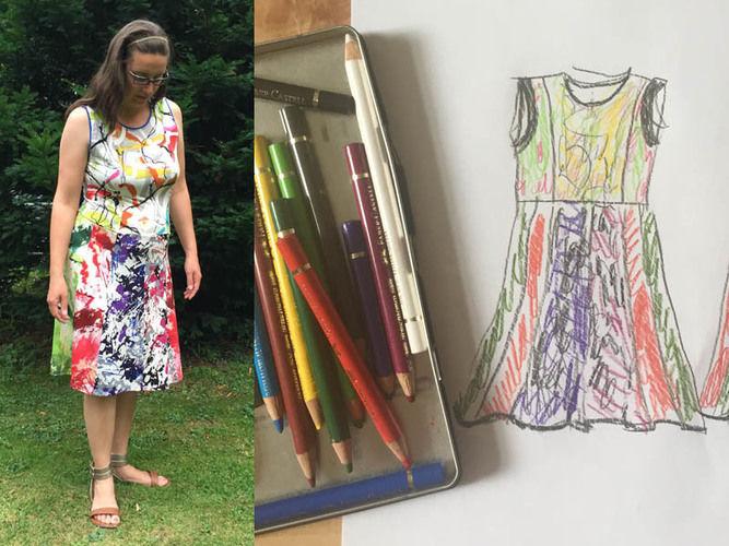 Makerist - vielfarbiges Sommerkleid aus Resten gepatched - Nähprojekte - 1