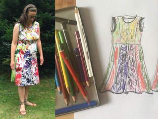 Makerist - vielfarbiges Sommerkleid aus Resten gepatched - 1