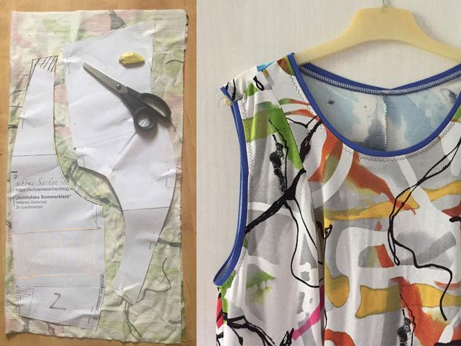 Makerist - vielfarbiges Sommerkleid aus Resten gepatched - Nähprojekte - 2