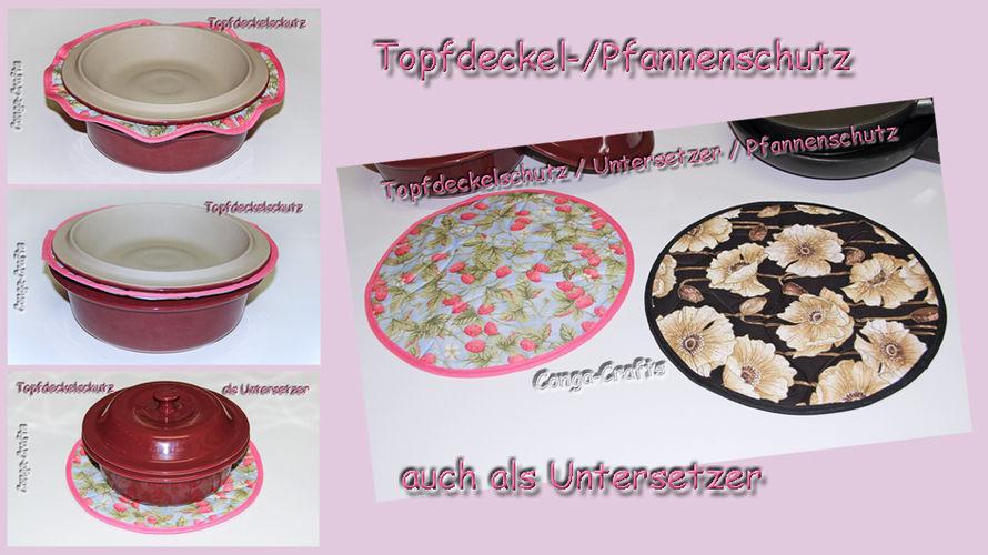 Makerist - Topfdeckel- / Pfannenschutz u. Untersetzer - DIY-Projekte - 1