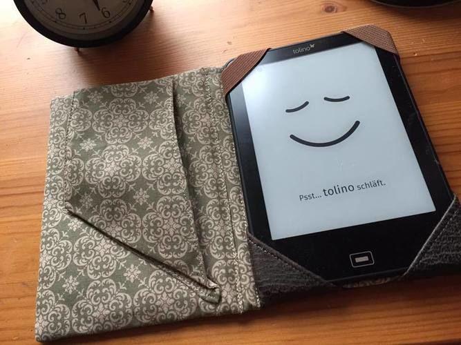 Makerist - Reader oder Tablett Hülle mit praktischer Handschlaufe v.  min ziari - Nähprojekte - 1