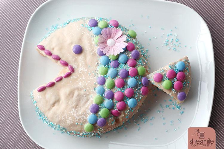 Makerist - Ein Fischkuchen zur Taufe - Torten, Cake Pops und Cupcakes - 1